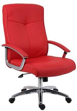 Picture of Office Chair Company Hoxton Red Leather Chair