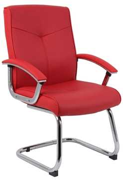 Picture of Office Chair Company Hoxton Red Leather Visitor Chair