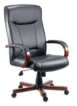 Picture of Office Chair Company Kingston Executive Chair Black and Mahogany