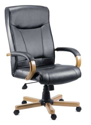 Picture of Office Chair Company Kingston Executive Chair Black and Oak