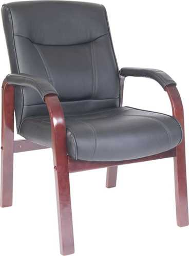 Picture of Office Chair Company Kingston Visitor Black and Mahogany