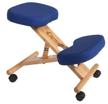 Picture of Office Chair Company Kneeling Chair Wood Blue
