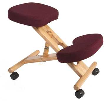 Picture of Office Chair Company Kneeling Chair Wood Burgundy