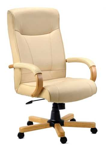 Picture of Office Chair Company Knightsbridge Executive Cream Leather Chair