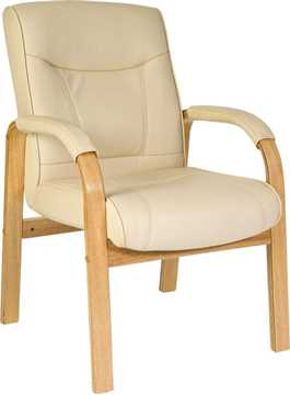 Picture of Office Chair Company Knightsbridge Visitor Cream Leather Chair