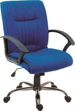 Picture of Office Chair Company Milan Blue Fabric Executive Chair