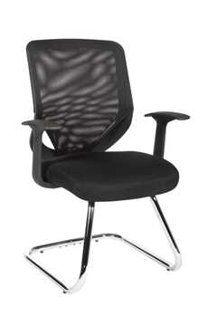 Picture of Office Chair Company Nova Black Mesh Visitor