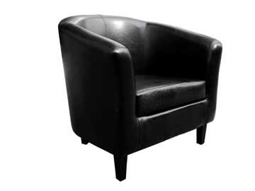 Picture of Office Chair Company Tub Chair Black Faux Leather