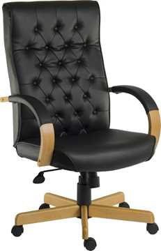 Picture of Office Chair Company Warwick Noir Leather