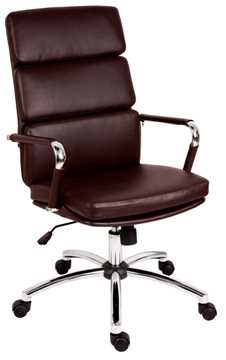 Picture of Office Chair Company Deco Executive Brown Leather