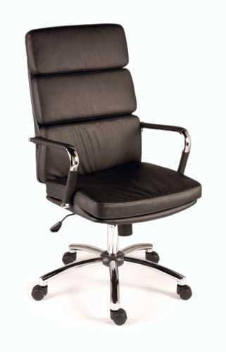 Picture of Office Chair Company Deco Executive Black Leather