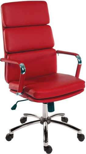 Picture of Office Chair Company Deco Executive Red Leather