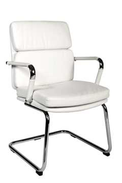 Picture of Office Chair Company Deco Visitor White Leather