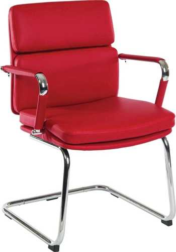 Picture of Office Chair Company Deco Visitor Red Leather