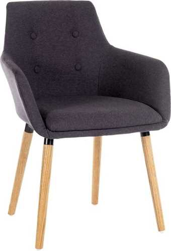 Picture of Office Chair Company Four Legged Reception Chair Graphite (Boxed and Sold in 2's)