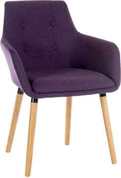Picture of Office Chair Company Four Legged Reception Chair Plum (Boxed and Sold in 2's)