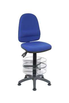 Picture of Office Chair Company Deluxe Draughter Ergo Twin Blue