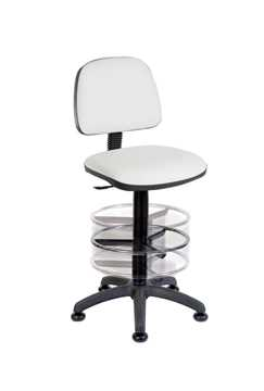 Picture of Office Chair Company Deluxe Draughter Ergo Blaster PU White