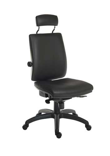 Picture of Office Chair Company Ergo Plus Premier HR PU Black
