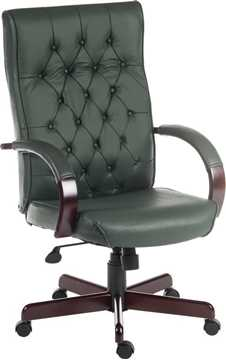 Picture of Office Chair Company Warwick Green Leather
