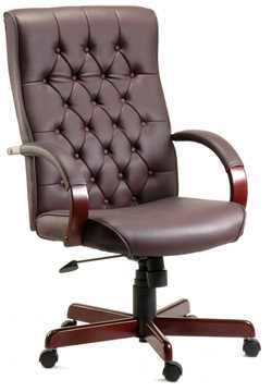 Picture of Office Chair Company Warwick Burgundy Leather