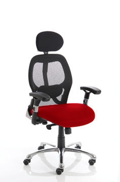 Picture of Office Chair Company Sanderson Bespoke Colour Seat Cherry
