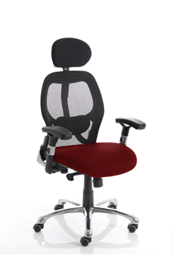 Picture of Office Chair Company Sanderson Bespoke Colour Seat Chilli
