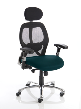 Picture of Office Chair Company Sanderson Bespoke Colour Seat Kingfisher