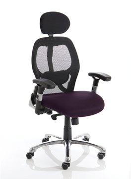 Picture of Office Chair Company Sanderson Bespoke Colour Seat Purple