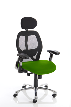 Picture of Office Chair Company Sanderson Bespoke Colour Seat Swizzle