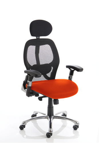 Picture of Office Chair Company Sanderson Bespoke Colour Seat Pimento