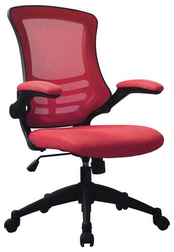 Picture of Office Chair Company Luna Designer Mesh Chair Red