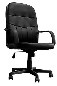 Picture of Office Chair Company Orion High Back Leather Faced Managers Chair Black