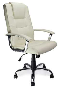 Picture of Office Chair Company Westminster High Back Leather Executive Chair Cream