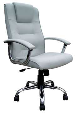 Picture of Office Chair Company Westminster High Back Leather Executive Chair Silver