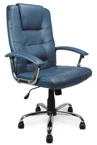 Picture of Office Chair Company Westminster High Back Leather Executive Chair Blue