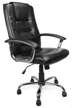 Picture of Office Chair Company Westminster High Back Leather Executive Chair Black