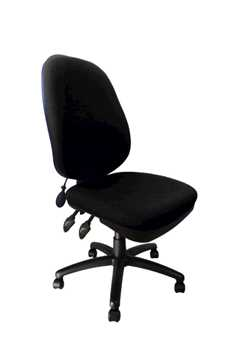 Picture of Office Chair Company Carlisle Pump Up Lumbar Chair - Black