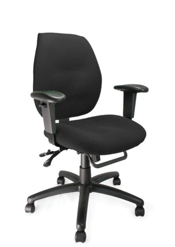 Picture of Office Chair Company Severn Medium Back Multi-functional Task Operator Chair with Adjustable Arms Black