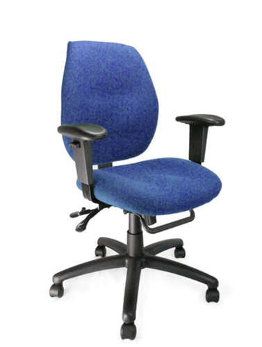 Picture of Office Chair Company Severn Medium Back Multi-functional Task Operator Chair with Adjustable Arms Blue