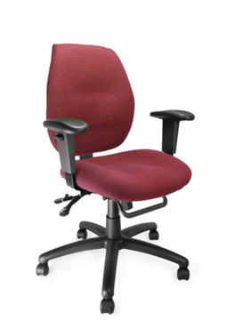 Picture of Office Chair Company Severn Medium Back Multi-functional Task Operator Chair with Adjustable Arms Wine Red