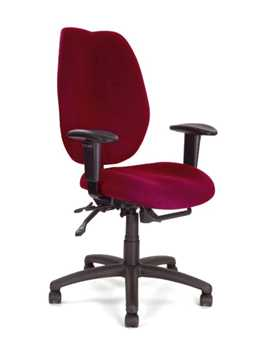 Picture of Office Chair Company Thames High-back multi-fictional operator chair Wine Red
