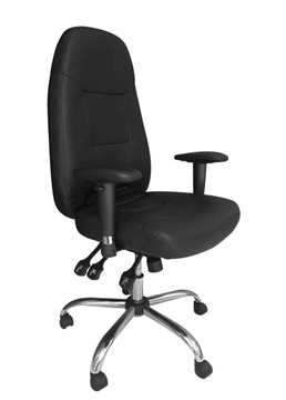 Picture of Office Chair Company BABYLON 24 Hour Operator Chair Black Leather