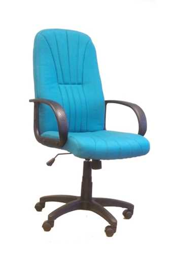 Picture of Office Chair Company Pluto High back executive armchair with sculptured back - Aqua