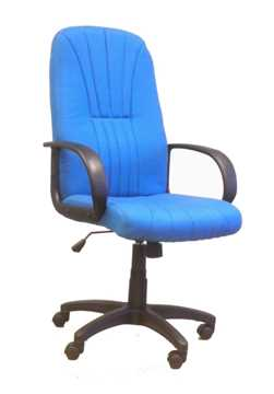 Picture of Office Chair Company Pluto High back executive armchair with sculptured back - Blue