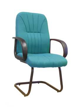 Picture of Office Chair Company Pluto Cantilever framed visitors armchair with sculptured back - Aqua