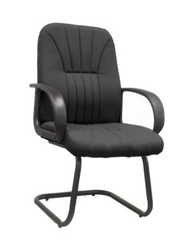 Picture of Office Chair Company Pluto Cantilever framed visitors armchair with sculptured back - Black