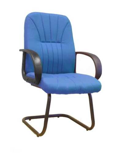 Picture of Office Chair Company Pluto Cantilever framed visitors armchair with sculptured back - Blue