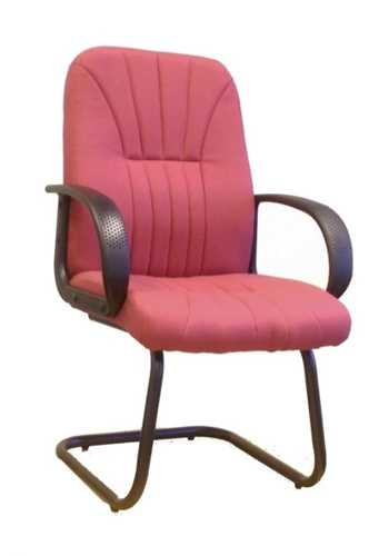 Picture of Office Chair Company Pluto Cantilever framed visitors armchair with sculptured back - Wine