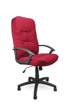 Picture of Office Chair Company Coniston High back fabric armchair - Wine